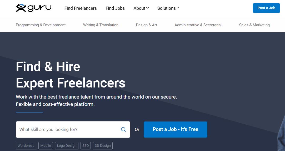 Trabajos de freelancer en guru