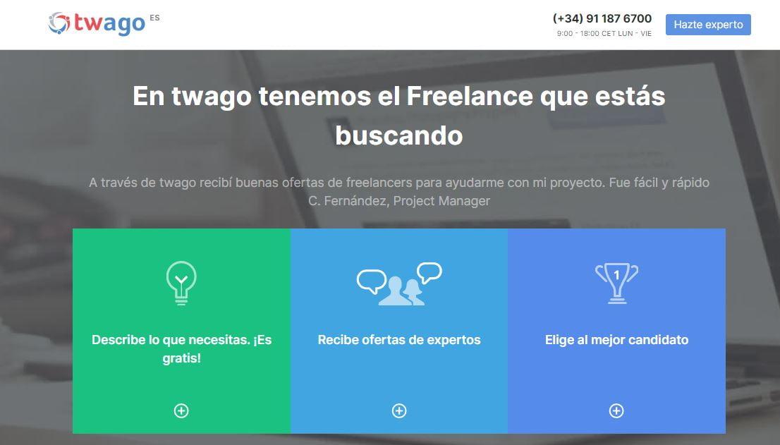 ganar dinero como freelancer en twago